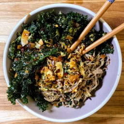 Soba Noodles w/ Crispy Kale