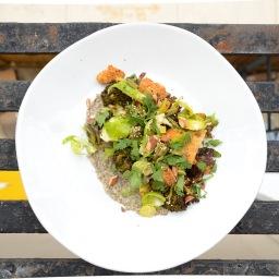 Roasted Broccoli & Tofu w/ Creamy Miso Dressing