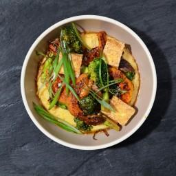 Miso Polenta w/ Winter Vegetables & Tofu
